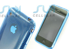 Blue Transparent Gel Case